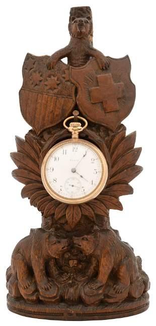 Black Forest Carved Watch Holder