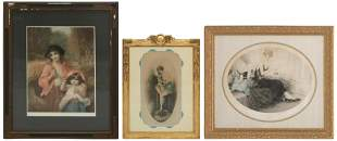 Lot of Three Continental Etchings