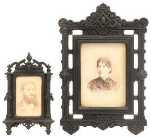 Two Victorian Gutta Percha Frames