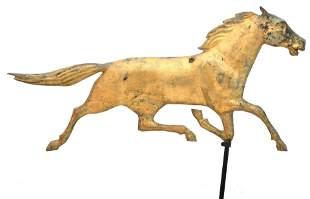 American Gilt Copper & Zinc Horse Weathervane