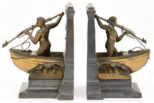 Pair of Jennings Brothers Whaling Bookends