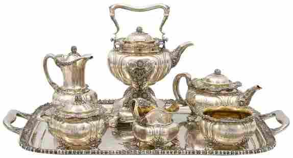 "Tiffany & Co. Sterling Silver ""Chrysanthemum"" Tea &"