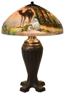 "Handel ""Arab & Camel"" Table Lamp"