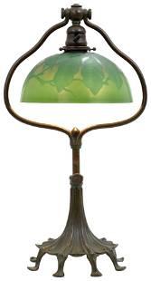 "Tiffany Studios ""Harp"" Adjustable Desk Lamp"