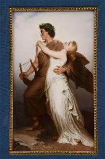 KPM Porcelain Plaque of Orpheus & Eurydice