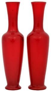 Pair of Tiffany Studios Favrile Glass Vases