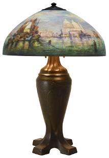 "Handel ""Venetian Harbor"" Table Lamp"