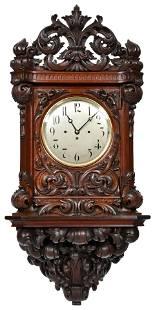 J.J. Elliott Triple Fusee Wall Bracket Clock