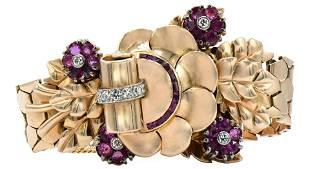 Tiffany & Co. Yellow Gold, Diamond & Ruby