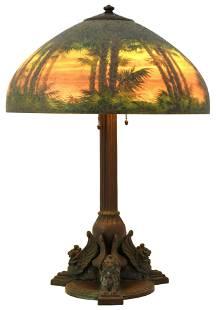 "Handel ""Tropical Sunset"" Table Lamp"