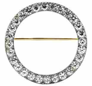 Tiffany & Co. Platinum & Diamond Circle Brooch