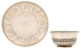 Tiffany & Co. Sterling Silver Bowl & Plate