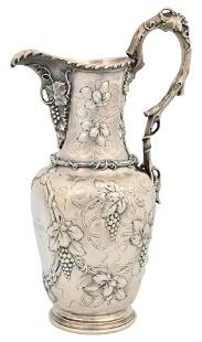 Gorham Mfg. Co. Coin Silver Water Pitcher with