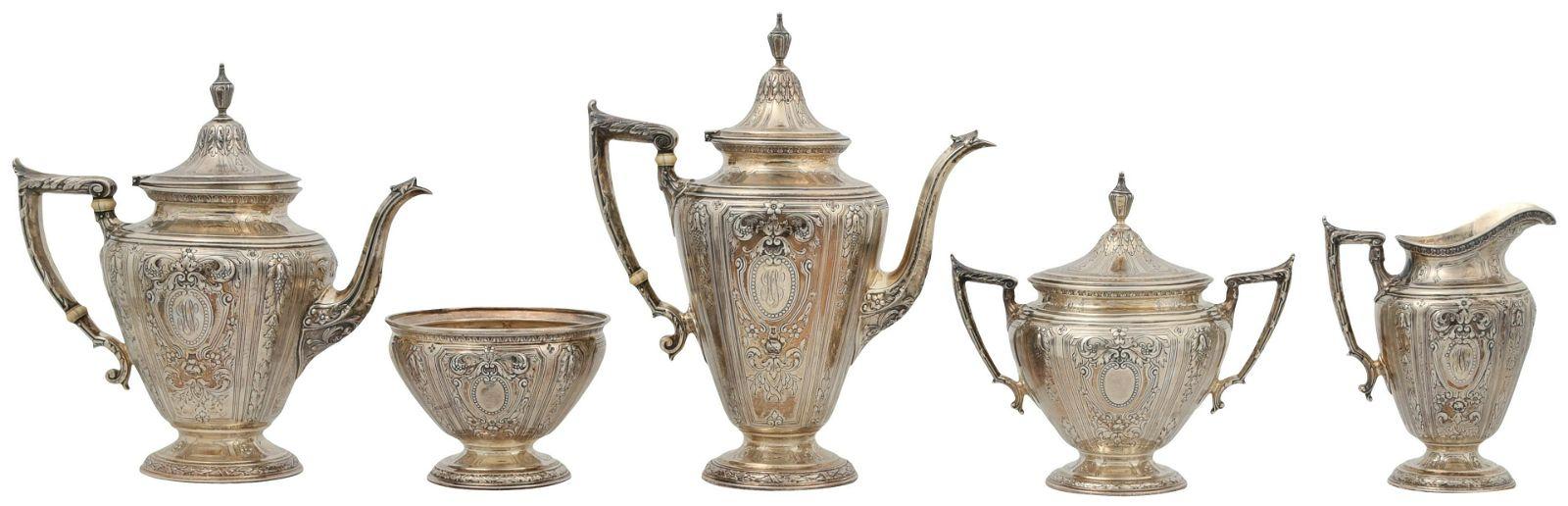 Gorham Mfg. Co. Sterling Silver Tea & Coffee Service