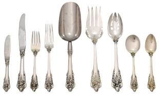 """Wallace Sterling Silver 119-Piece """"Grand Baroque"""""""