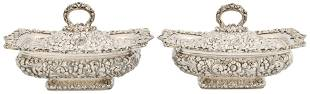 Pair of J.E. Caldwell & Co. Sterling Silver Vegetable