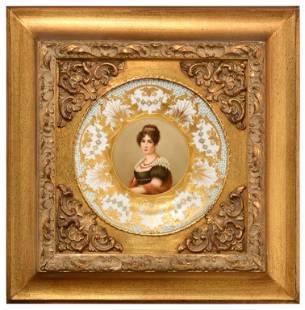 Royal Vienna Porcelain Portrait Plaque