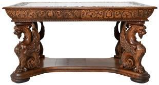 R.J. Horner & Co. Oak Partner's Desk