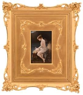 German Porcelain Plaque of a Fairy