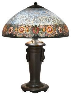 Handel Reverse Painted Floral Table Lamp