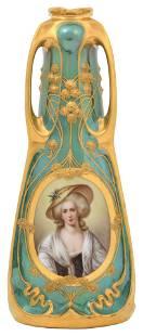 Richard Klemm, Dresden, Porcelain Portrait Vase