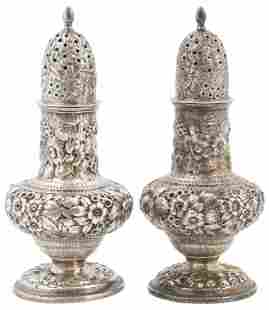Pair of Tiffany & Co. Sterling Silver Salt & Pepper