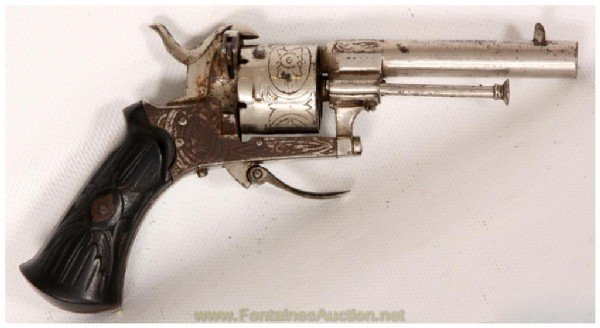 1: Engraved Pinfire Revolver