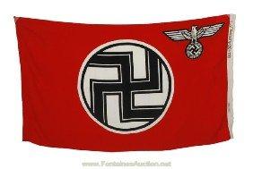 7: WWII German Nazi Military Flag - Kress St. Tonis