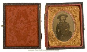 GENERAL GEORGE A. CUSTER CIVIL WAR TINTYPE