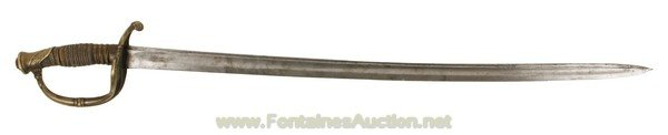 """114: CONFEDERATE """"FOOT OFFICER'S"""" SWORD ATTR McELROY &"""