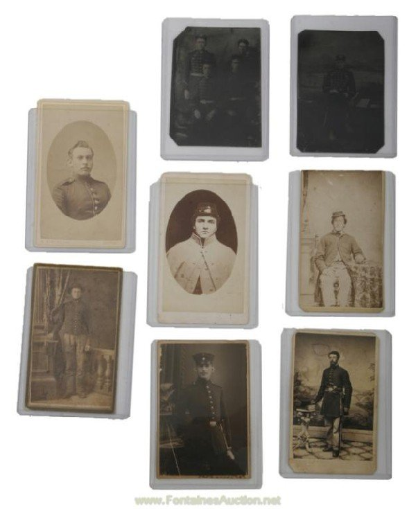 125: CIVIL WAR ERA - 6 GERMAN AND AMERICAN CARTE DE VIS