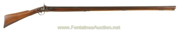 145: COLONIAL FULL-STOCK FOWLER 75 CALIBER MUZZLE LOADE