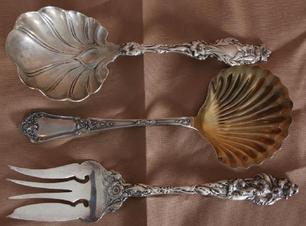 13: 3 Assorted Sterling Silver Serving Pieces.