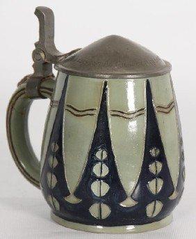 Pottery 1/2 Liter Stein.