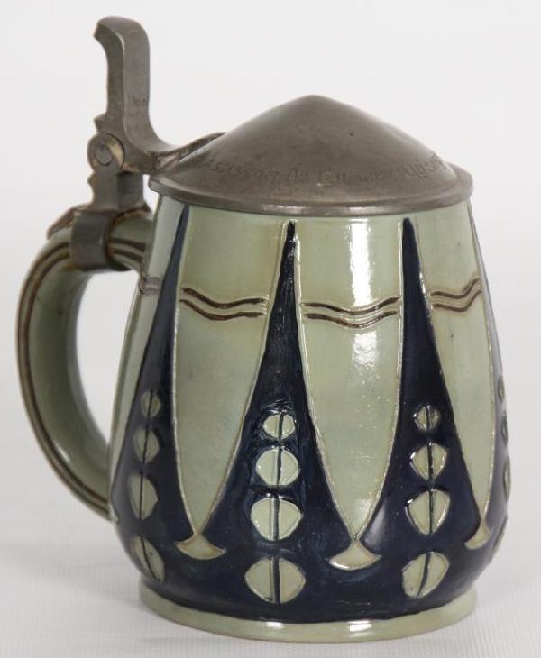 82: Pottery 1/2 Liter Stein.