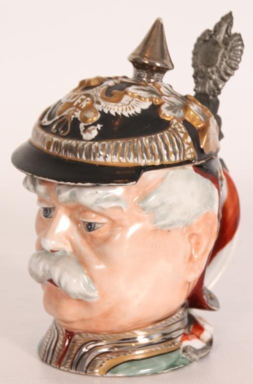 88: Figural Head Stein w/ Luster Finish.