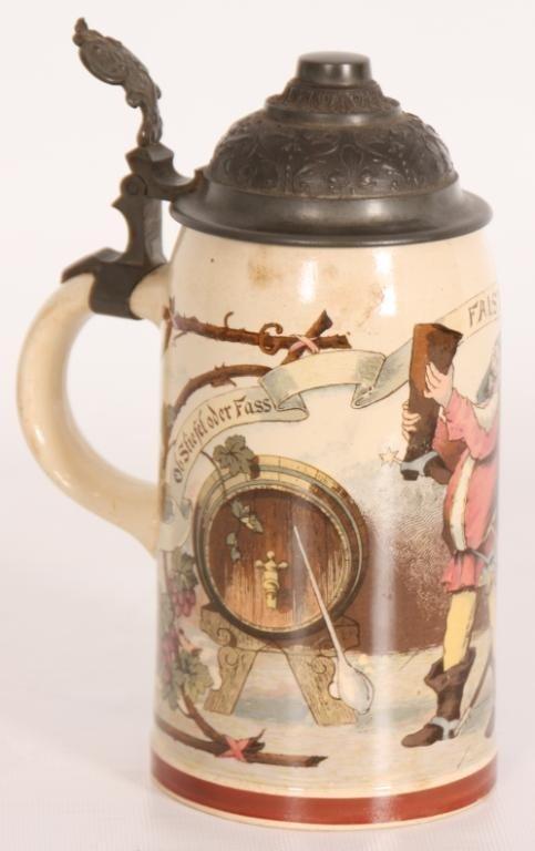93: German 1/2 Liter Scenic Beer Stein #1909.