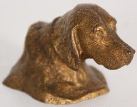 Tiffany Studios New York Bronze Irish Setter Bust
