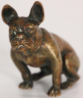 Small Austrian Bronze Bulldog Paperweight.