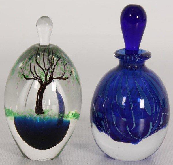 148: 2 Artglass Perfumes; 1 by M Buechner, Thames.