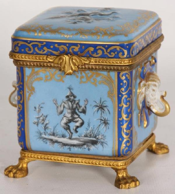 149: Large French Covered Dresser Box