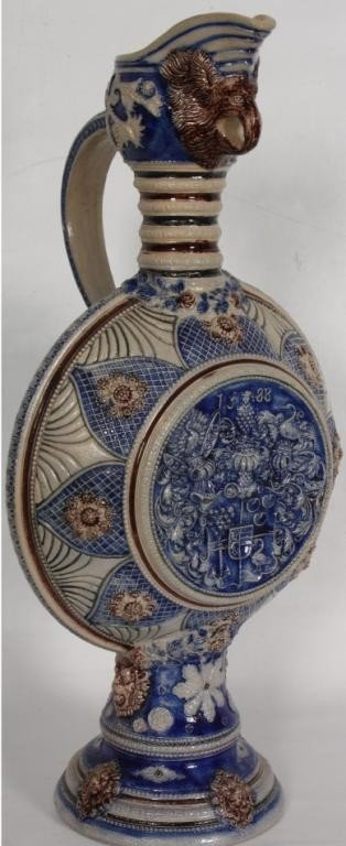 150: Large German Pottery Water Pitcher.