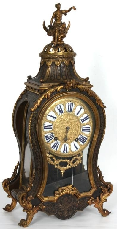160: Boulle Inlaid Louis XIV Bracket Clock Signed Gaudr