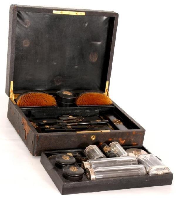 247: 30 Pc Tiffany & Co. Makers Travel Vanity Set.