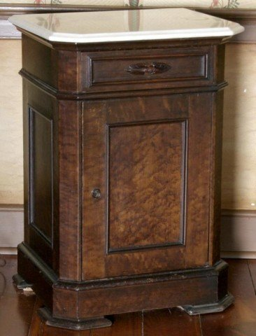 9: Maple Marble Top Half Commode