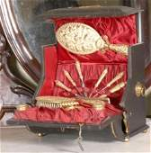 325 Brass Vanity In Leather Musical Case