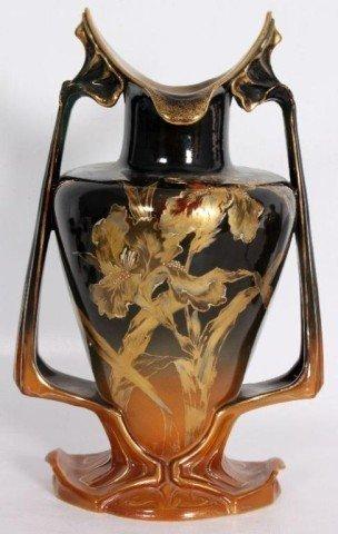 3: ROYAL BONN VASE Art nuveau form vase with gilded orc