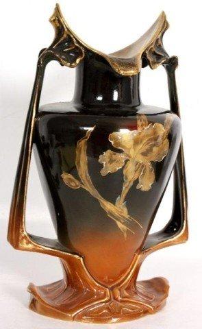 3: ROYAL BONN VASE Art nuveau form vase with gilded orc - 3
