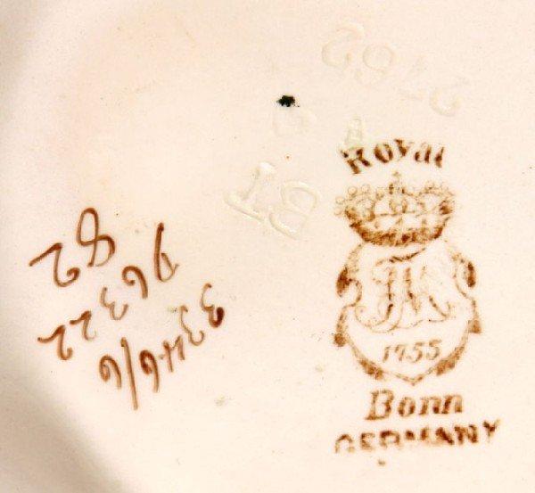 3: ROYAL BONN VASE Art nuveau form vase with gilded orc - 4