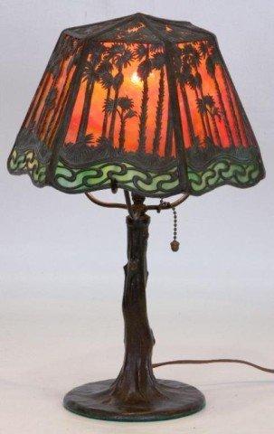 "7: 9"" Handel Hawaiian Sunset Boudoir Lamp Handel Hawaii"